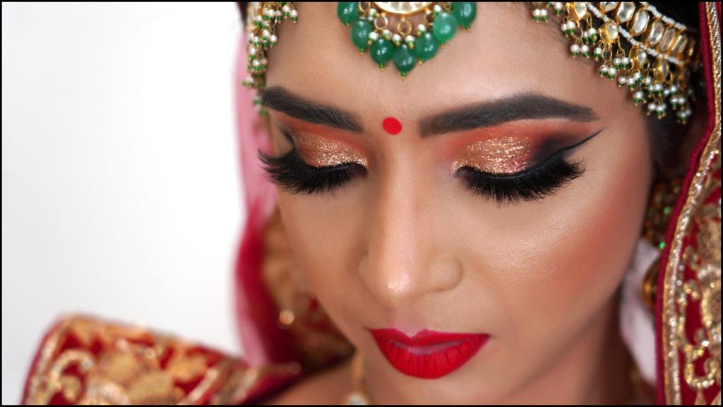 Full Wedding Makeup with #KitsBridal Lashes