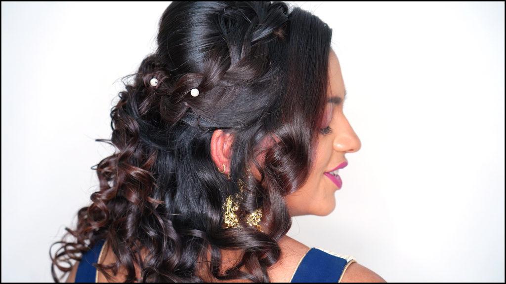 Half-curls Updo