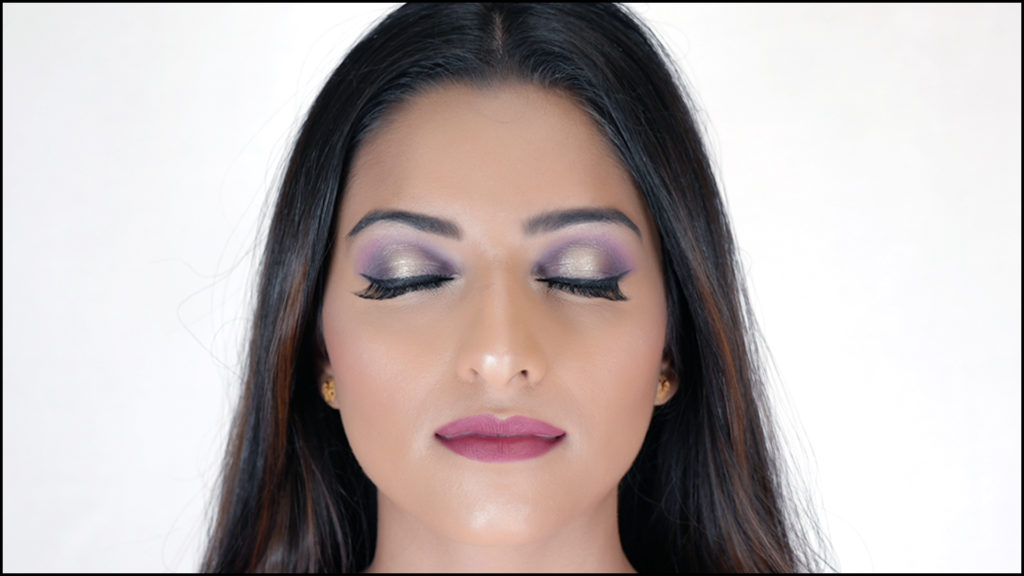 Non Bridal Makeup Soft Purple Smokey